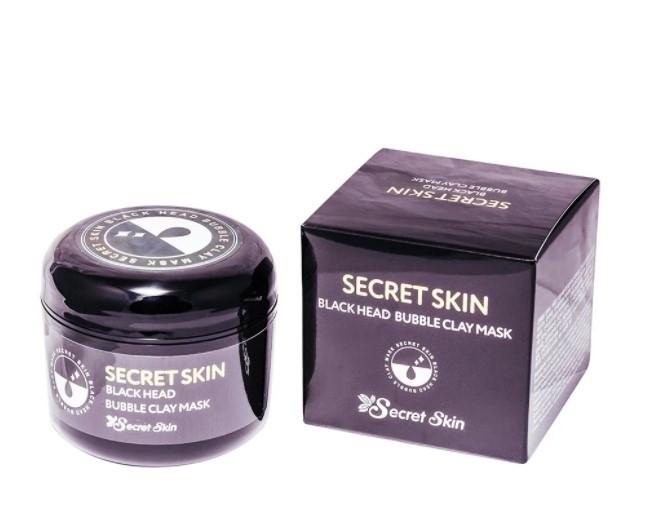 Secret skin Пузырьковая маска для лица с черной глиной Black Head Bubble Clay Mask 100g