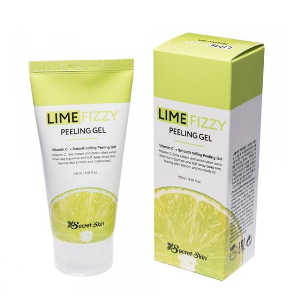 Secret skin Пилинг-скатка с экстрактом лайма и витамином С Lime Fizzy Peeling Gel 120ml