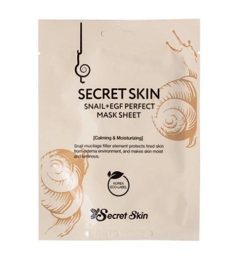 Secret skin Маска для лица с муцином улитки Snail+EGF Perfect Mask Sheet 20g
