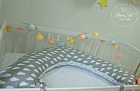 Подушка для беременних , подушка для вагітних ,подушка для кормления 3 в 1 в сірих тонах 2574