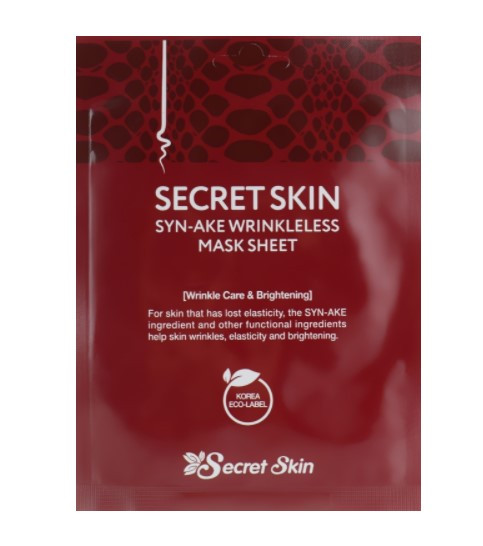 Secret skin Тканевая маска для лица с пептидом змеиного яда Syn-Ake Mask Sheet