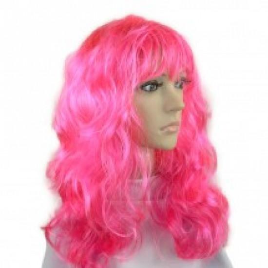 Парик Волнистый (розовый)