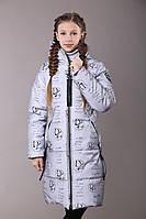 Подовжений міді пуховик Олівія для дівчинки р 140-158