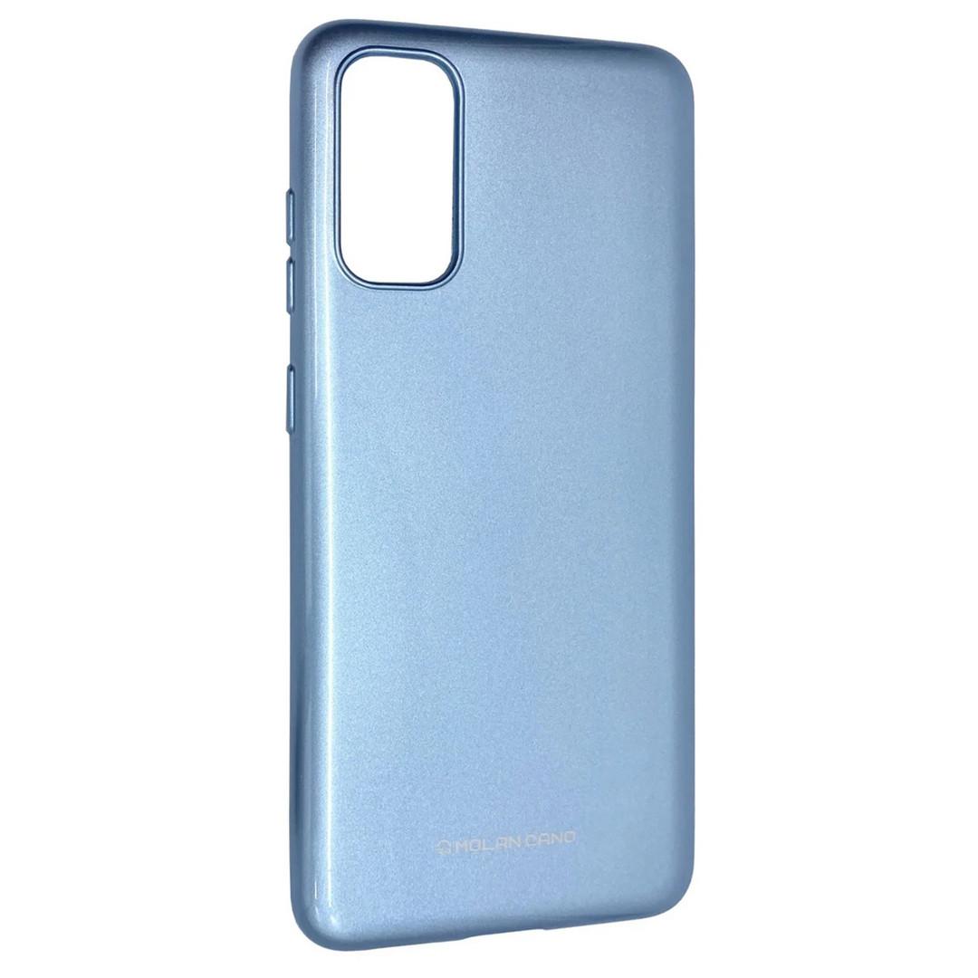 Силиконовый чехол для Samsung Galaxy S20 (SM-G980), Molan Cano, голубой с микроблеском