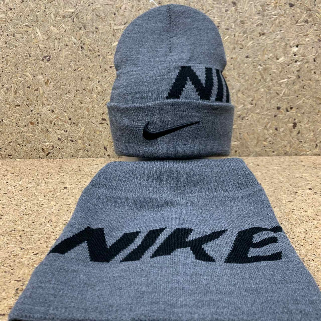 "Набор (шапка+баф)  разные цвета  ""Nike"""