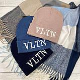 """Шапка разные  цвета  """"Valentino"""", фото 3"""