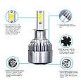 Светодиодные LED лампы в фары автомобиля H3, Светодиодная лед лампа COB 6000K 8-48V, LED лампы головного света, фото 4