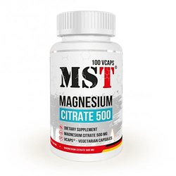 MST Magnesium Citrate 500 mg 100 caps