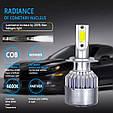 Светодиодные LED лампы в фары автомобиля H7, Светодиодная лед лампа COB 6000K 8-48V, LED лампы головного света, фото 3