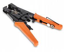 Инструмент HT-5082R для опрессовки компрессионных разъемов серий F, BNC ,RCA, IEC