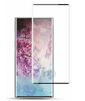Стекло Samsung N975 Galaxy Note 10 Plus (0.3 мм, 3D, черное) обеспечивает работу сканера отпечатков