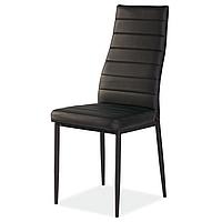 Черные стулья из экокожи Signal H-261 С для гостиной в стиле модерн ножки металл