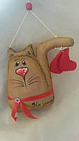 """Шитая этно игрушка кот с сапогами """"На удачу"""" (ручная работа)75/65  (цена за 1шт. +10 грн)"""