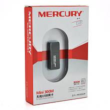 Бездротовий мережевий адаптер Wi-Fi-USB MERCURY mini MW300UM, 802.11bgn, 300MB, 2.4 GHz, WIN7 / XP / Vista /