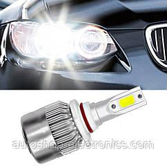 Светодиодные LED лампы в фары автомобиля H11, Светодиодная лед лампа COB 6000K 8-48V, LED лампы головного свет