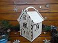 Новогодний подарочный домик для конфет из дерева   Новогодний декор, фото 2