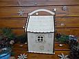 Новогодний подарочный домик для конфет из дерева   Новогодний декор, фото 4