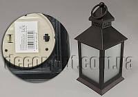 Подсвечник интерьерный черный 10,5х10,5х24см YK9535BK пласт.