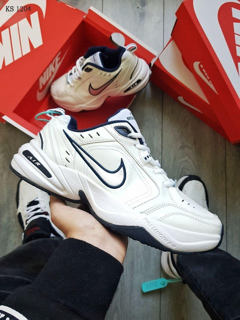 Nike Air Monarch IV (белые) cas
