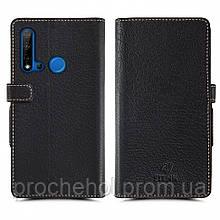 Чехол книжка Stenk Wallet для Huawei Nova 5i Чёрный