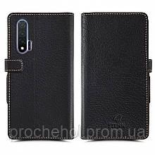 Чехол книжка Stenk Wallet для Huawei Nova 6 Чёрный