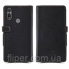 Чехол книжка Stenk Wallet для Motorola Moto E6s Чёрный