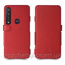 Чехол книжка Stenk Prime для Motorola Moto G8 Plus Красный