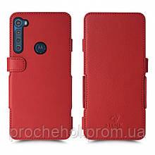 Чехол книжка Stenk Prime для Motorola One Fusion Plus Красный