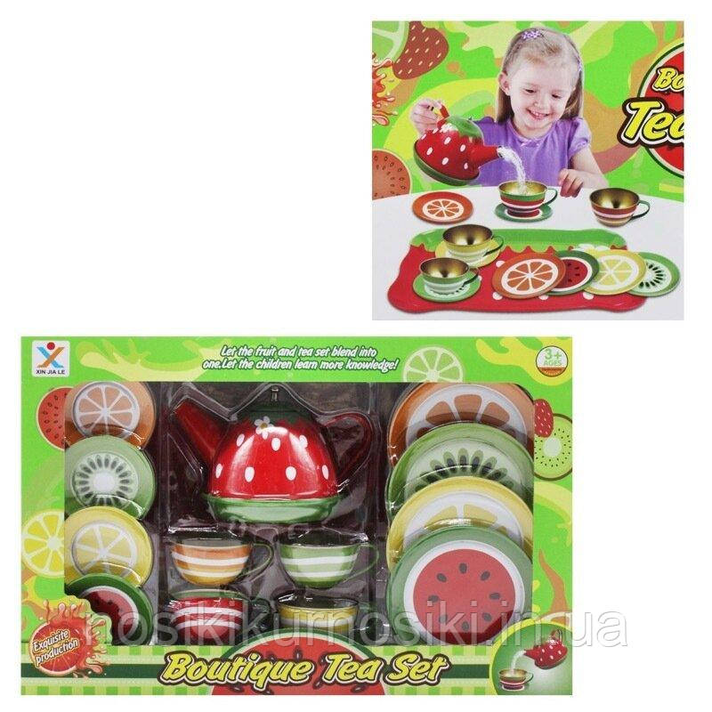 Набор игрушечной металлической посуды 14 предметов 2020-A Чайный сервиз