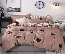 Постельное белье сатин люкс, сатиновое постельное с компаньоном S448