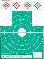 Мишень ИБИС № 4 зеленая с пристрелочными ромбами