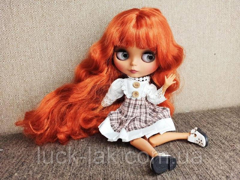Шарнирная кукла Блайз Blyth TBL ACY пышные огненно рыжие волосы + 10 пар кистей + одежда и обувь в подарок