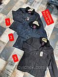 Модная мужская  джинсовая Куртка на меху синего цвета больших размеров, фото 2