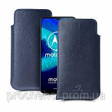 Футляр Stenk Elegance для Motorola Moto G8 Power Lite Синий