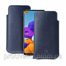 Футляр Stenk Elegance для Samsung Galaxy A21s Синий