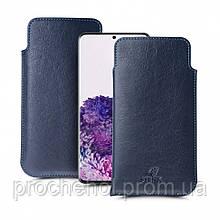 Футляр Stenk Elegance для Samsung Galaxy S20 Plus Синий