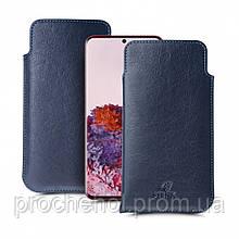 Футляр Stenk Elegance для Samsung Galaxy S20 Синий