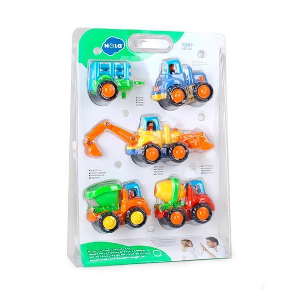 Игрушка Hola Toys Грузовичок 4 шт. (326)