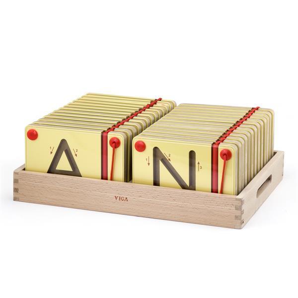 Обучающий набор Viga Toys Учимся писать Английские заглавные буквы (50337)