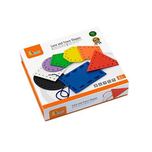 Деревянная шнуровка Viga Toys Геометрические фигуры (50538)