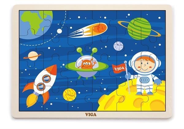 Деревянный пазл Viga Toys В космосе, 24 эл. (51461)