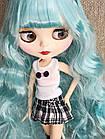 Шарнірна лялька Айсі (Блайз), Незабудка блакитний колір волосся+ 10 пар рук, одяг і взуття в подарунок, фото 3
