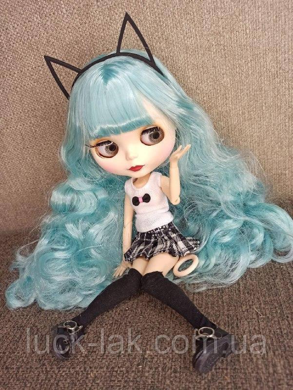 Шарнірна лялька Айсі (Блайз), Незабудка блакитний колір волосся+ 10 пар рук, одяг і взуття в подарунок