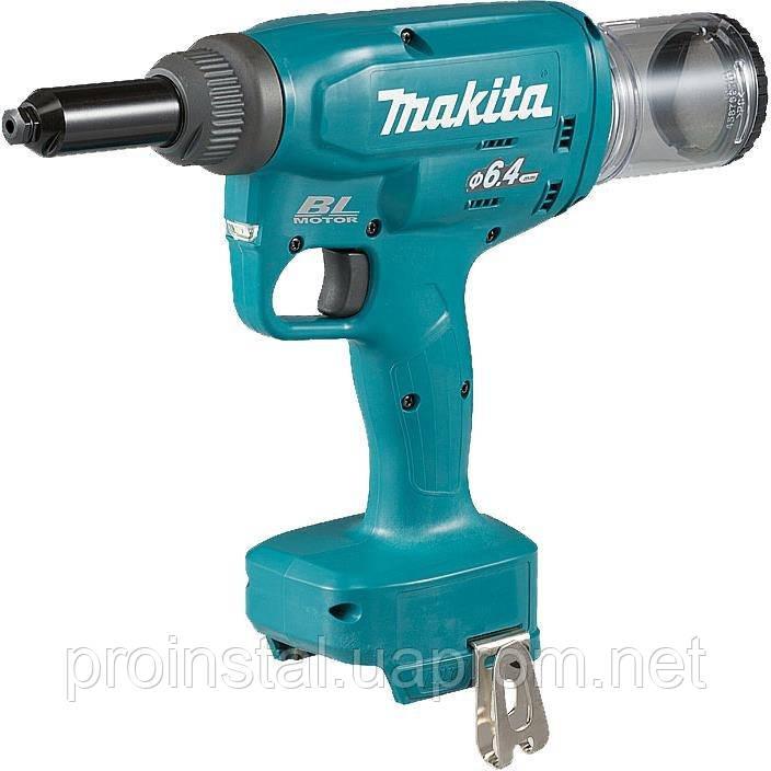 Заклепочник Makita LXT DRV250Z 18B, 20 kN - 2,4/ 3,2/4,0/4,8/6,0/6,4 мм (без АКБ і ЗУ)