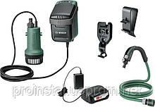 Насос погружной дренажный Bosch Garden Pump аккумуляторный, 18В, 2000 л/ч, до 30мин