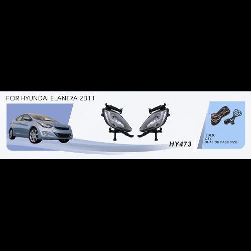 Протитуманні фари Vitol HY-473W Hyundai Elantra 2011 ел.проводка