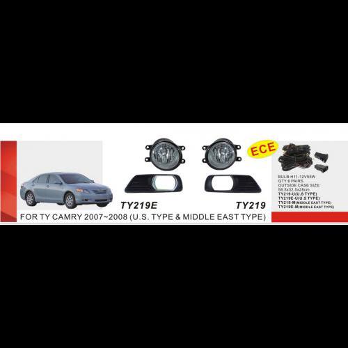 Протитуманні фари Vitol TY-219E-U-W Toyota Camry 40 2007 ел.проводка