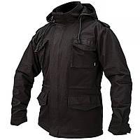 """Куртка милитари """"М 65"""" BLACK (На флисе)"""