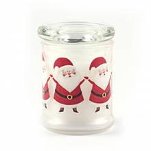 """Свічка в склянці з кришкою """"Санта Клаус"""""""