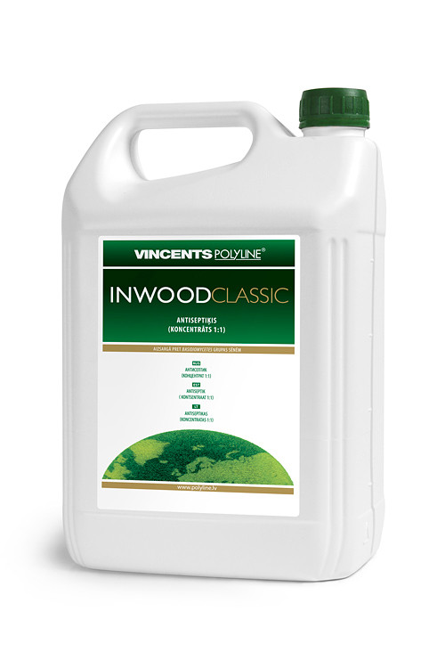 Антисептик Inwood Classic, коричневий, 5 літровий, Vincents Polyline